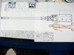 弾倉の形状が実機と違うみたいだけど設計時のモノかなぁ?Me262のオニギリ断面を考えると図面の方がしっくり来るけど・・・